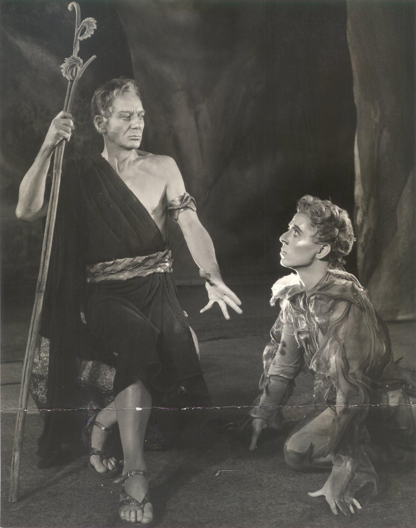 Prospero and Ariel.