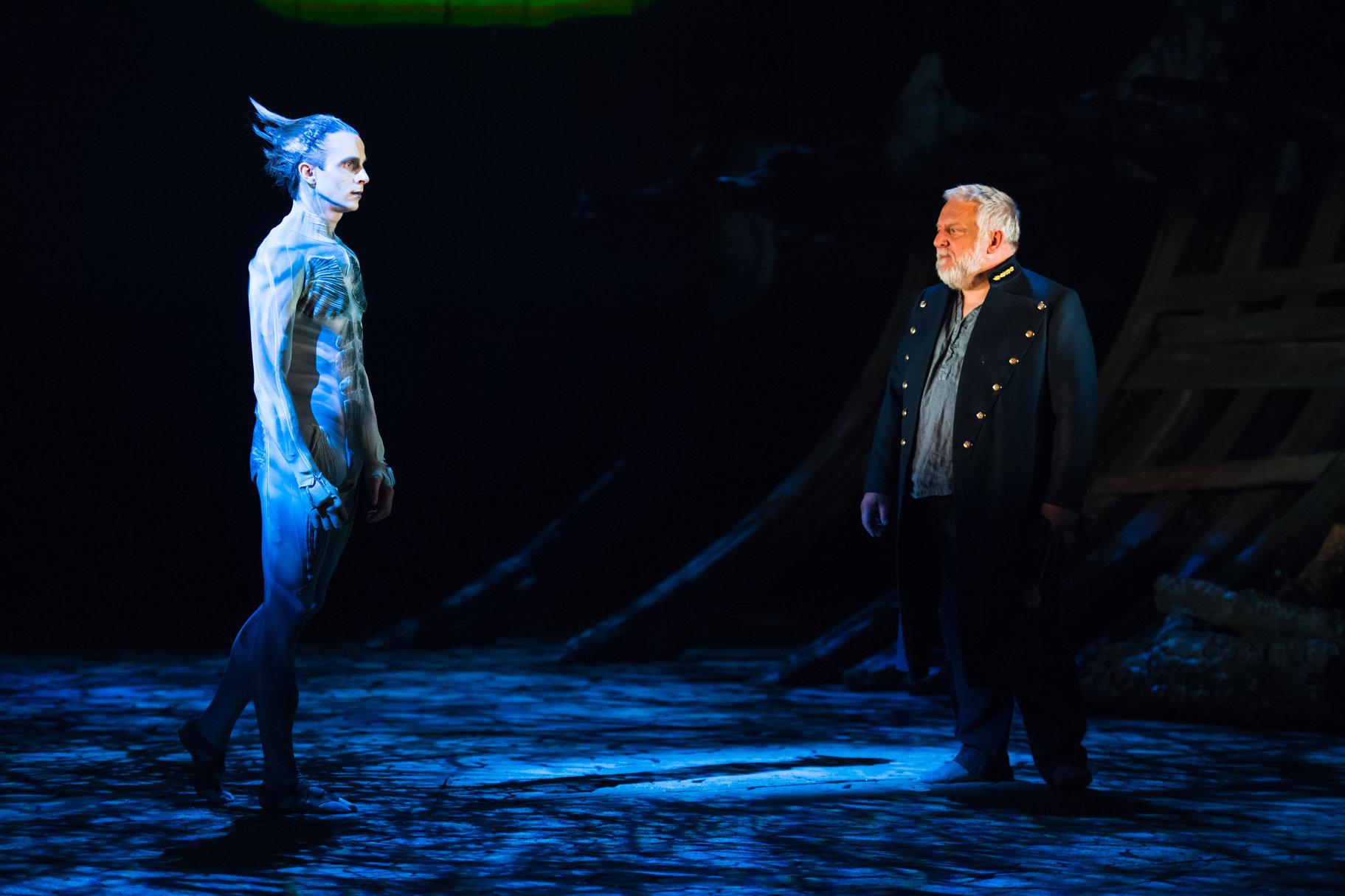 Ariel approaches Prospero