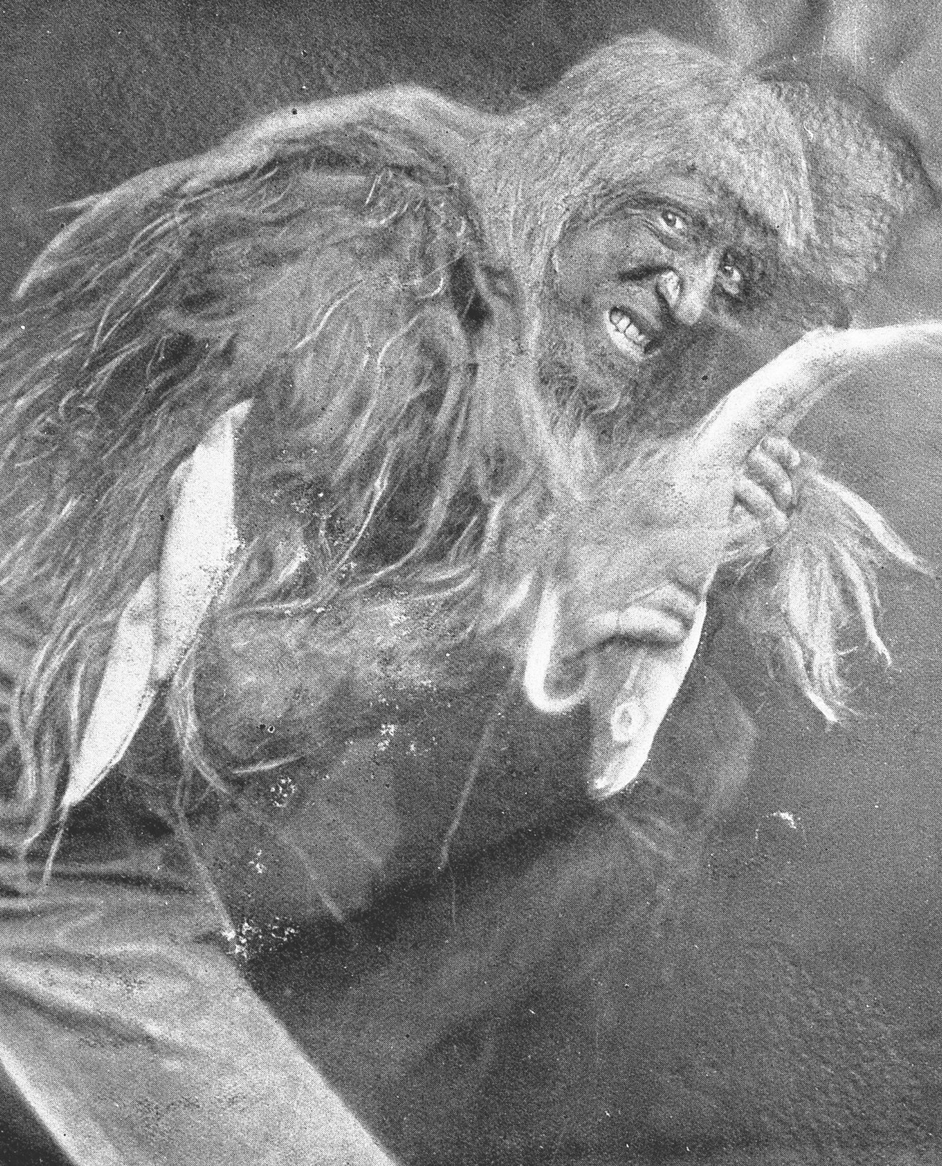 Frank Benson as Caliban.