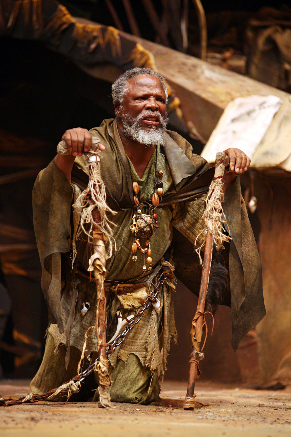 John Kani as Caliban.
