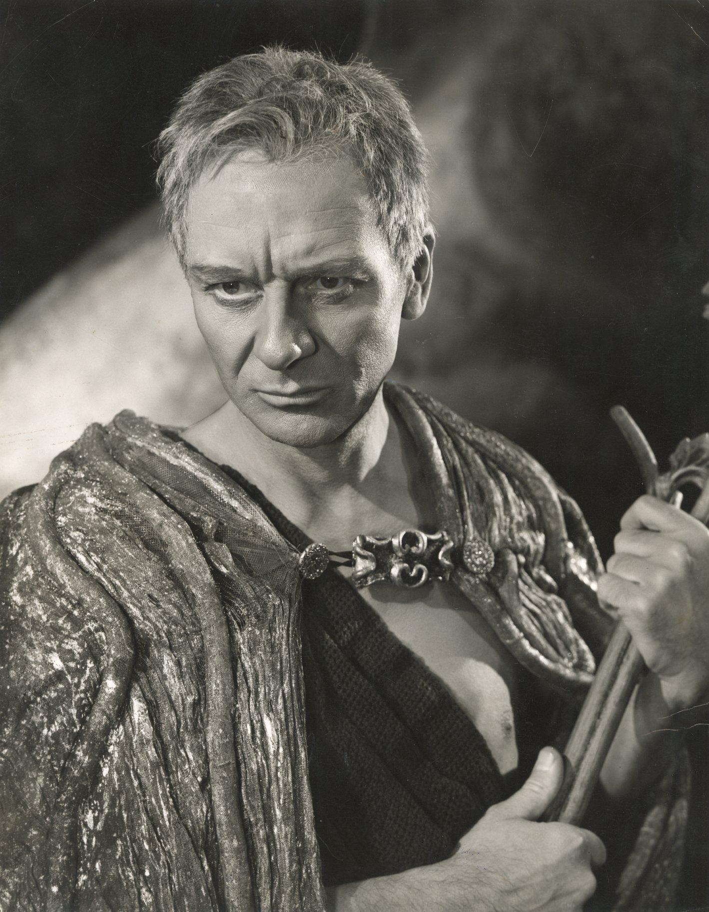 John Gielgud as Prospero.