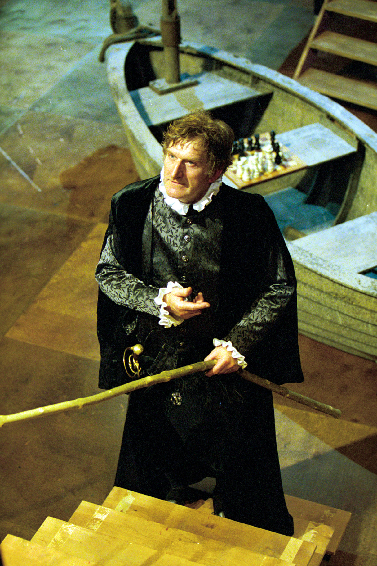 Malcolm Storry as Prospero.
