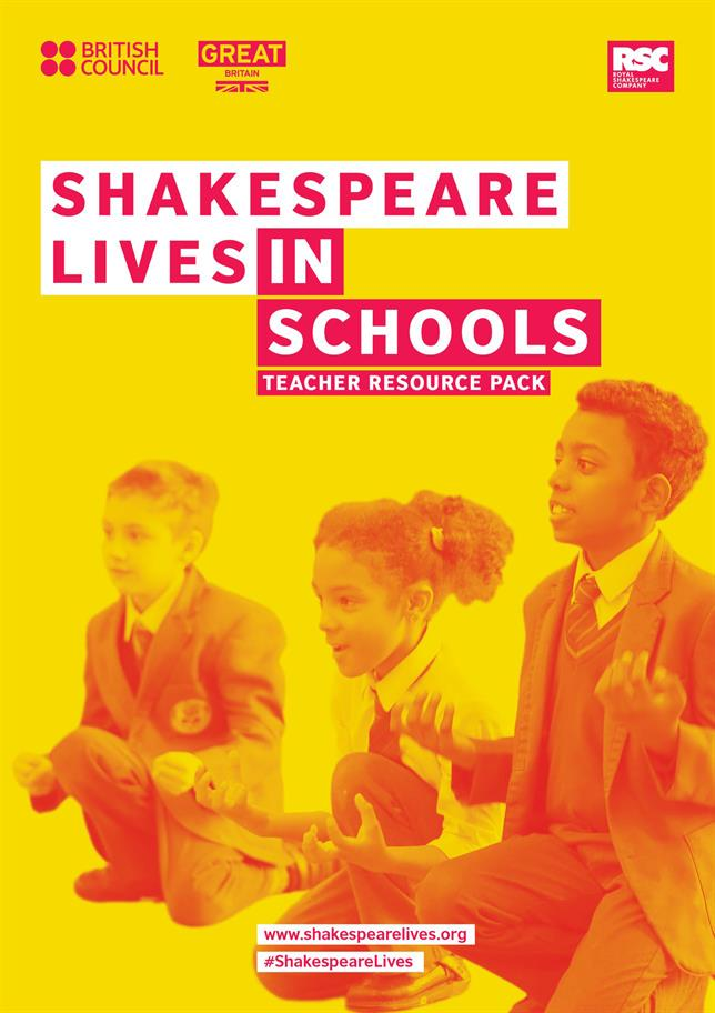 The cover of the teacher resource pack - a vibrant yellow background with orange pictures of children