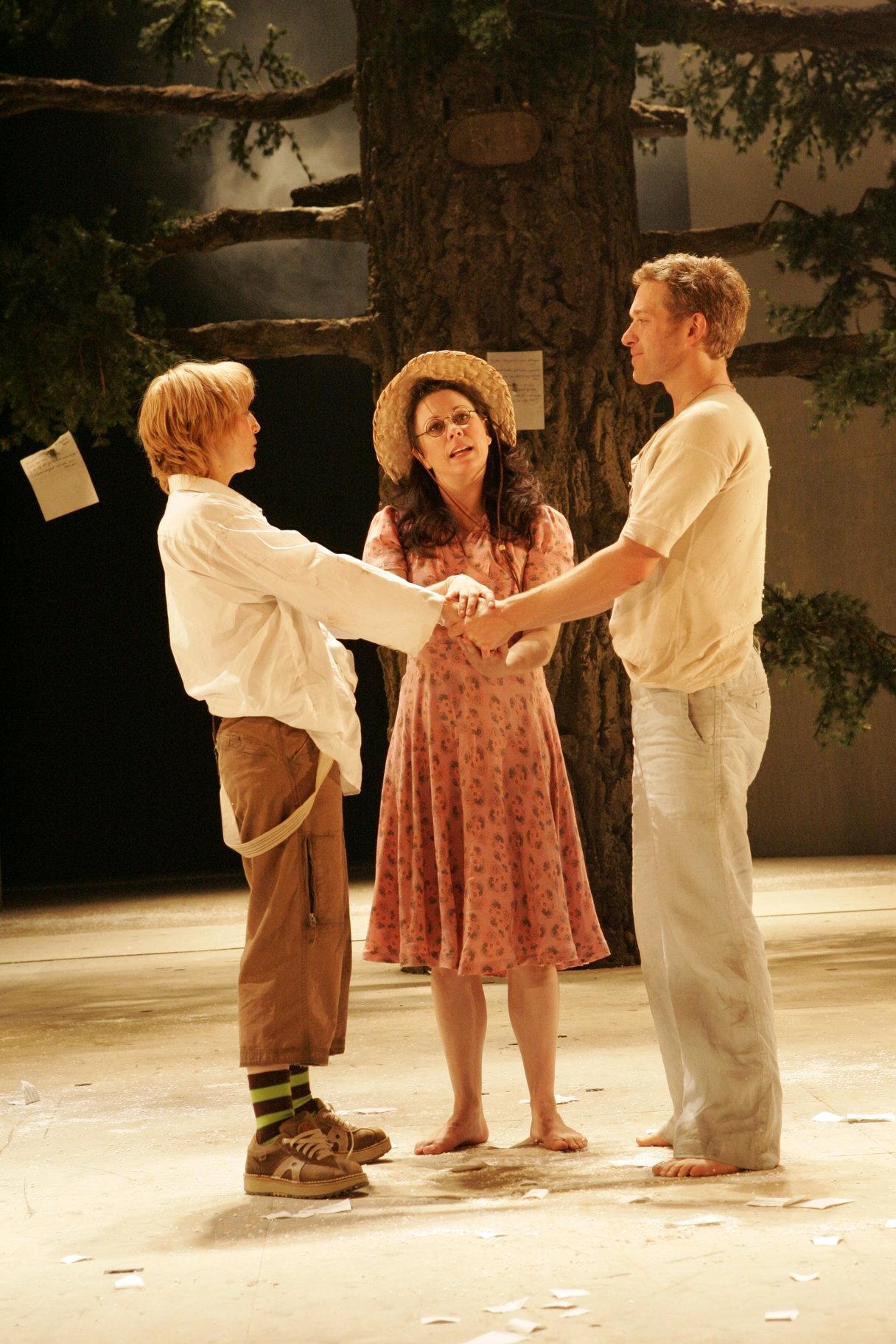 Celia marries Ganymede and Orlando.