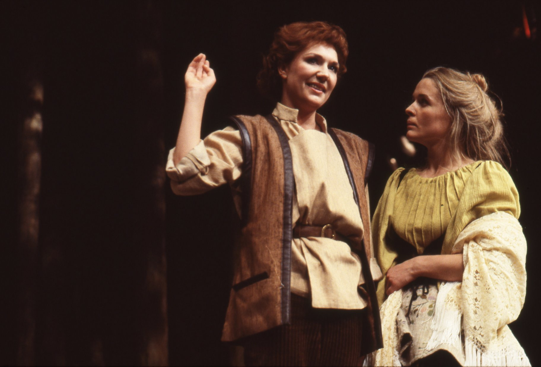 Rosalind and Celia disguised as Ganymede and Aliena.