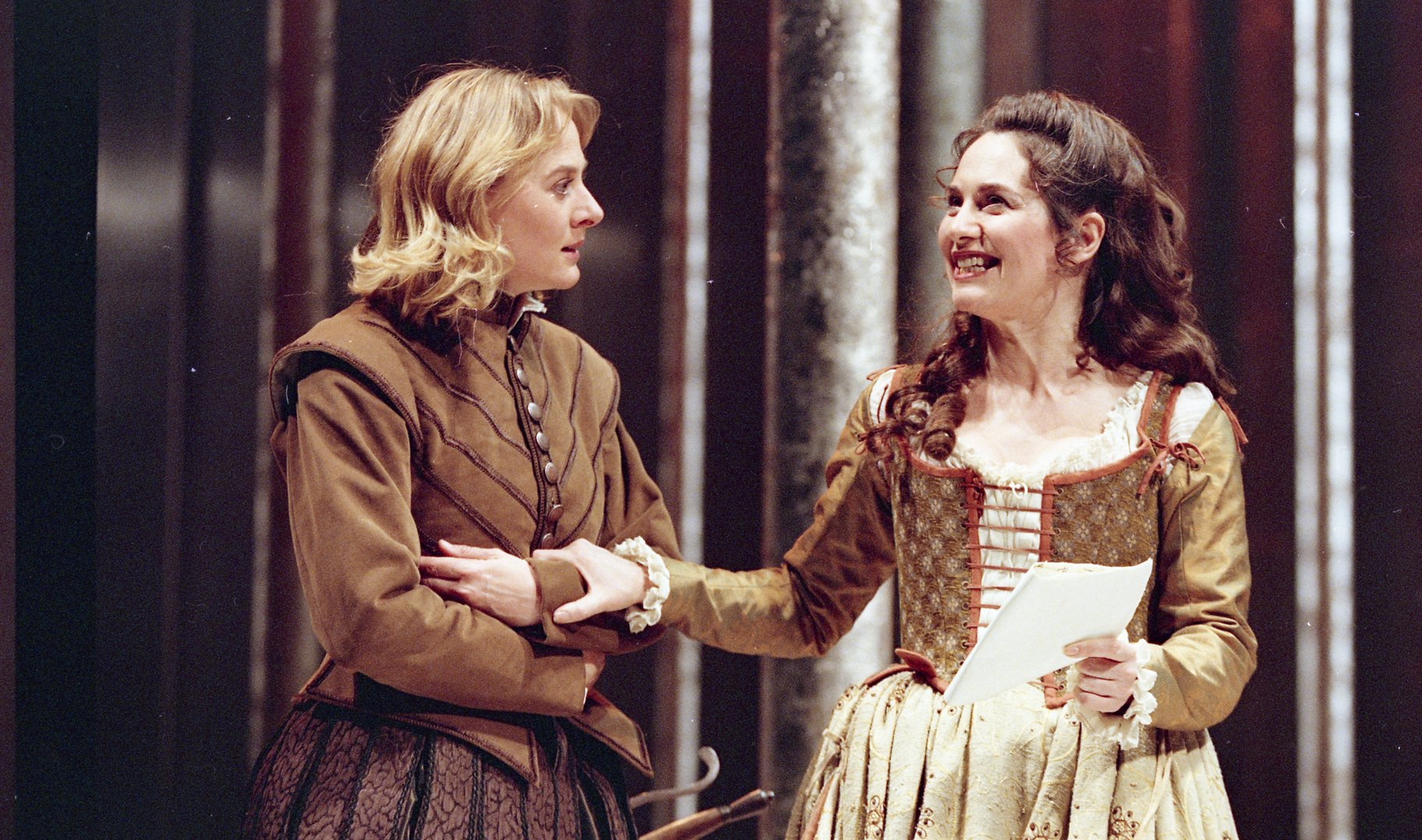 Rosalind and Celia as Ganymede and Aliena.