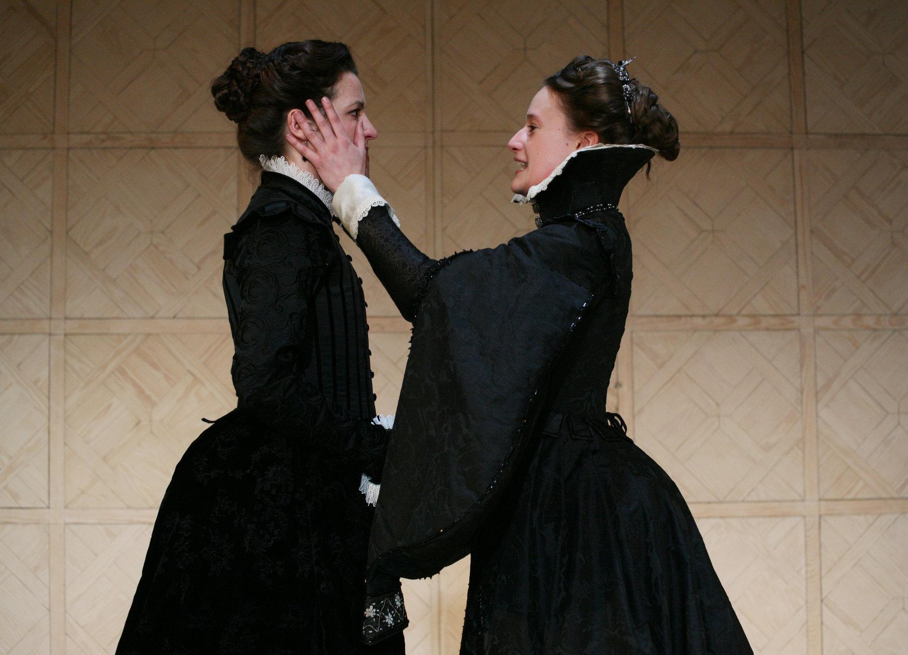 Celia comforts Rosalind.