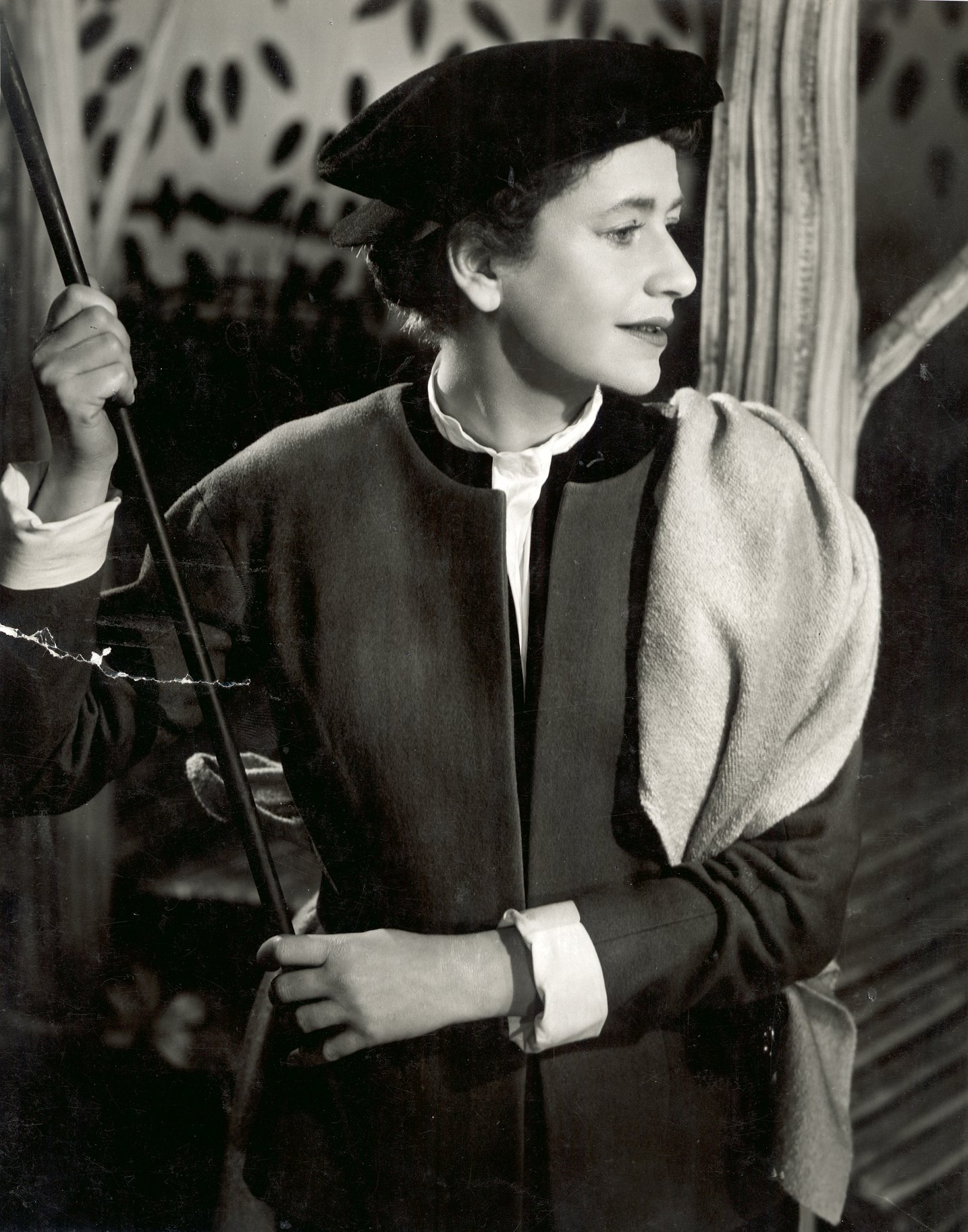 Peggy Ashcroft in a page outfit.