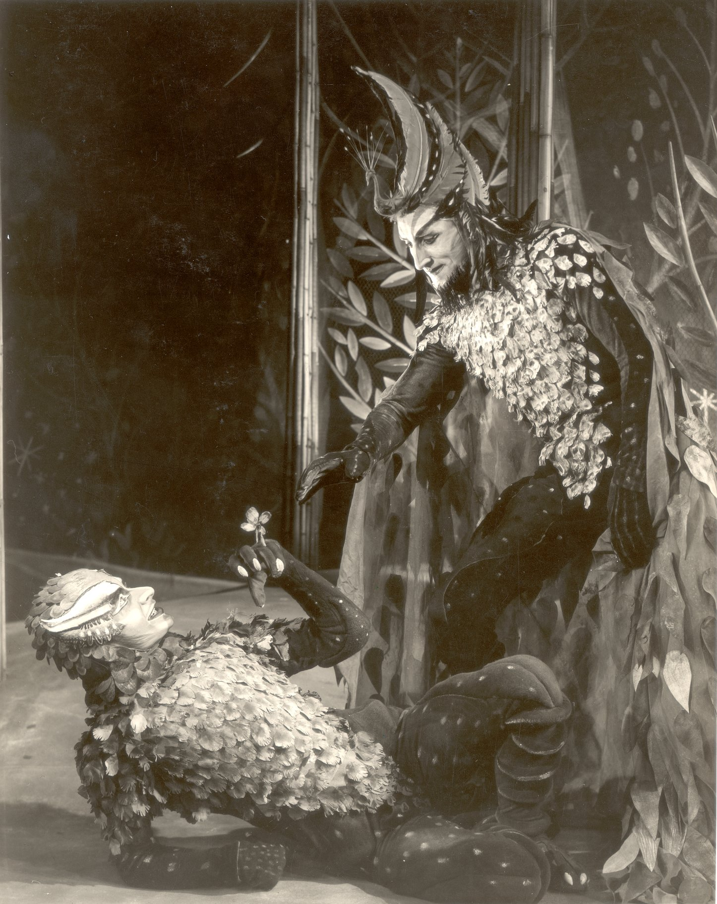A Midsummer Night_s Dream_ 1954_ Puck and Oberon_1954_Photo by Angus McBean _c_ RSC_27106