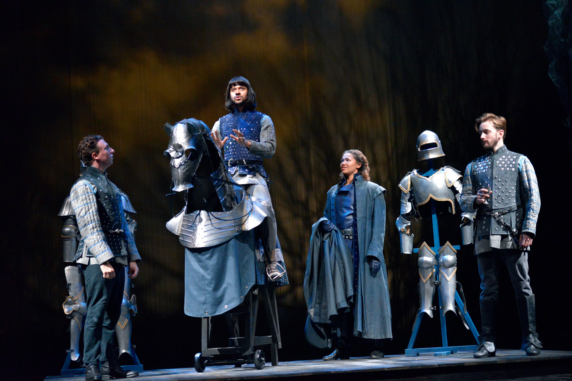 Henry V_ 2015_ the Duke of Orleans_ the Dauphin_ Rambures and the Constable of France_2015_Photo by Keith Pattison _c_ RSC_171477