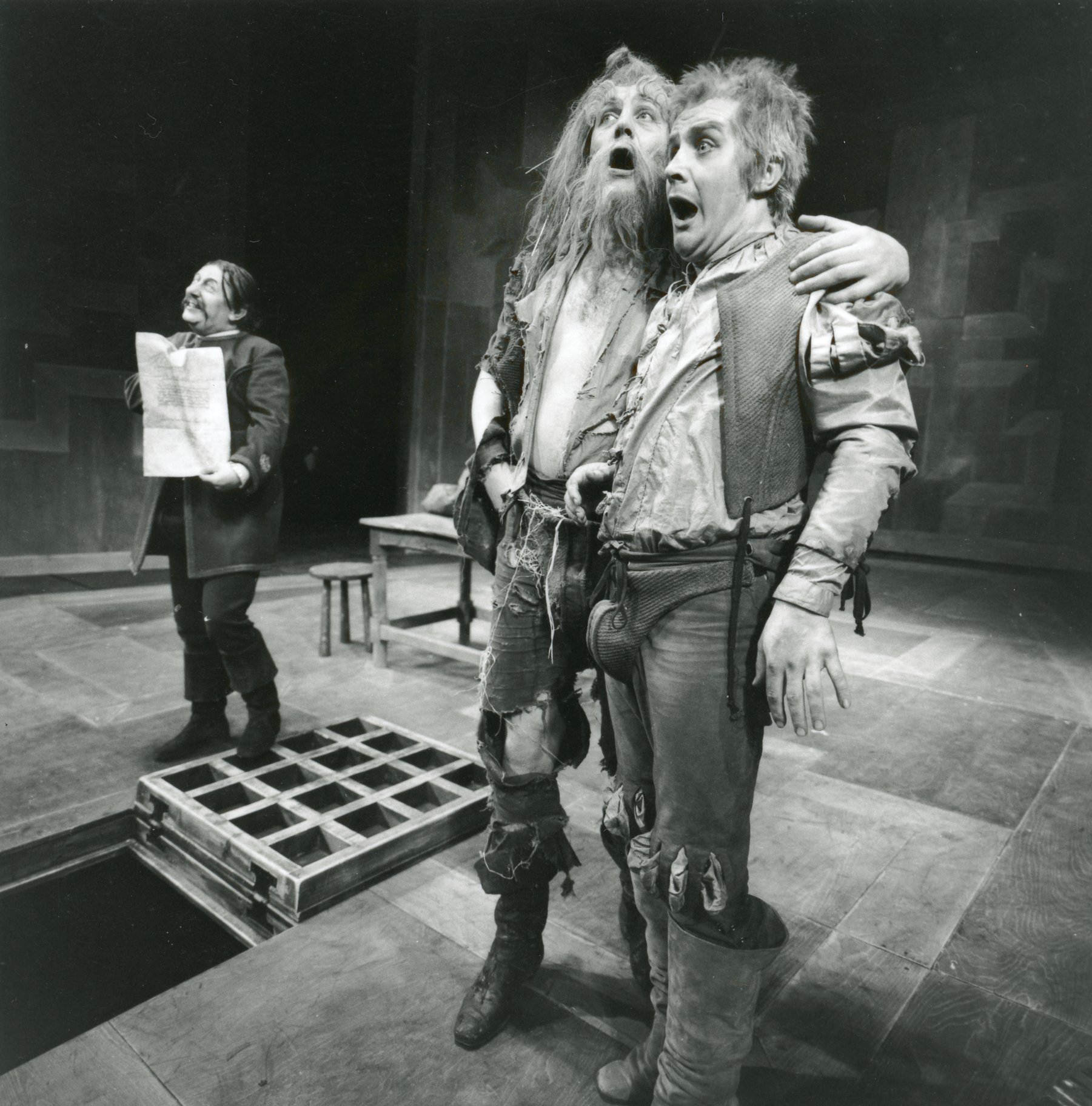 Measure for Measure_ 1970_ Abhorson_ Barnadine and Pompey_1970_Photo by Reg Wilson _c_ RSC_279661