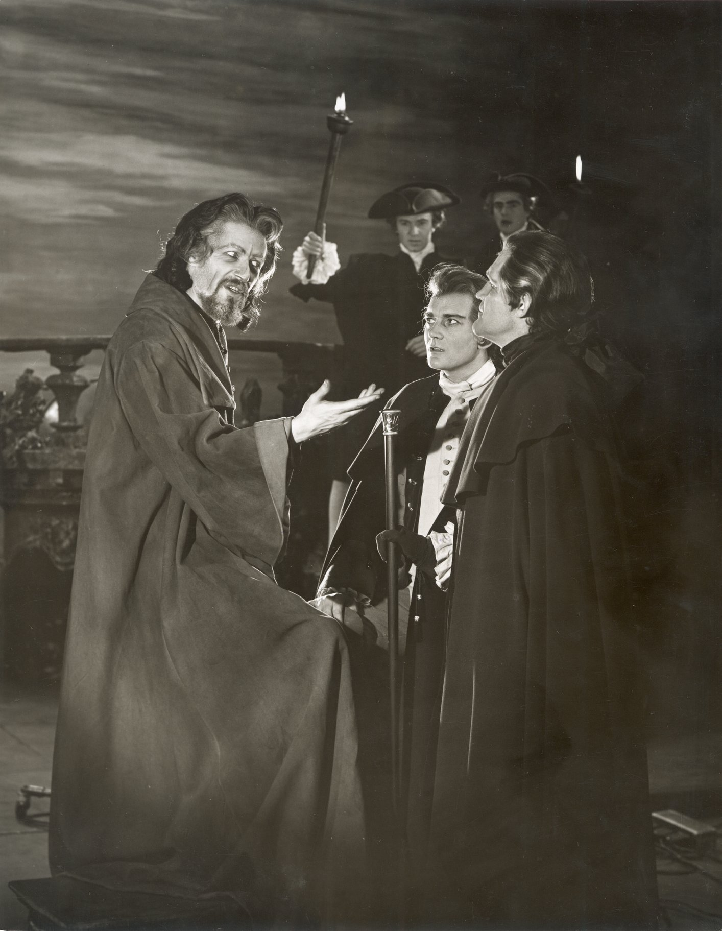 The Merchant of Venice_ 1960_ Shylock_ Bassanio and Antonio_1960_Photo by Angus McBean _c_ RSC_63188