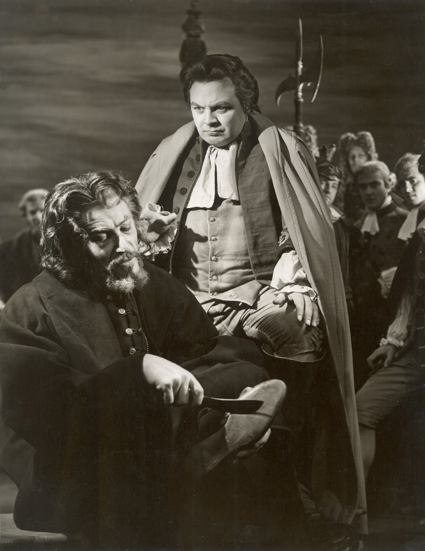 The Merchant of Venice_ 1960_ Shylock and Gratiano_1960_Photo by Angus McBean _c_ RSC_24551