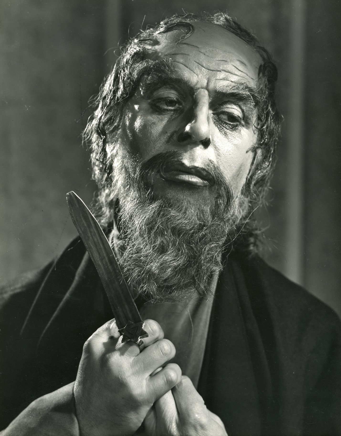 The Merchant of Venice_ 1956_ Emlyn Williams as Shylock_1956_Photo by Angus McBean _c_ RSC_214481