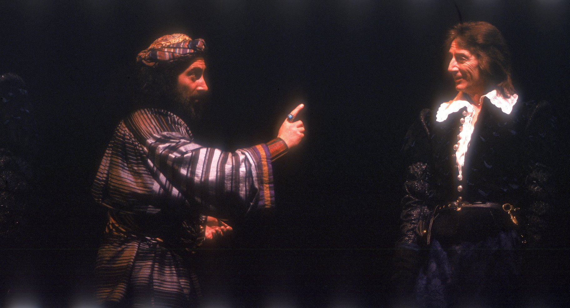 Shylock negotiates a loan with Antonio