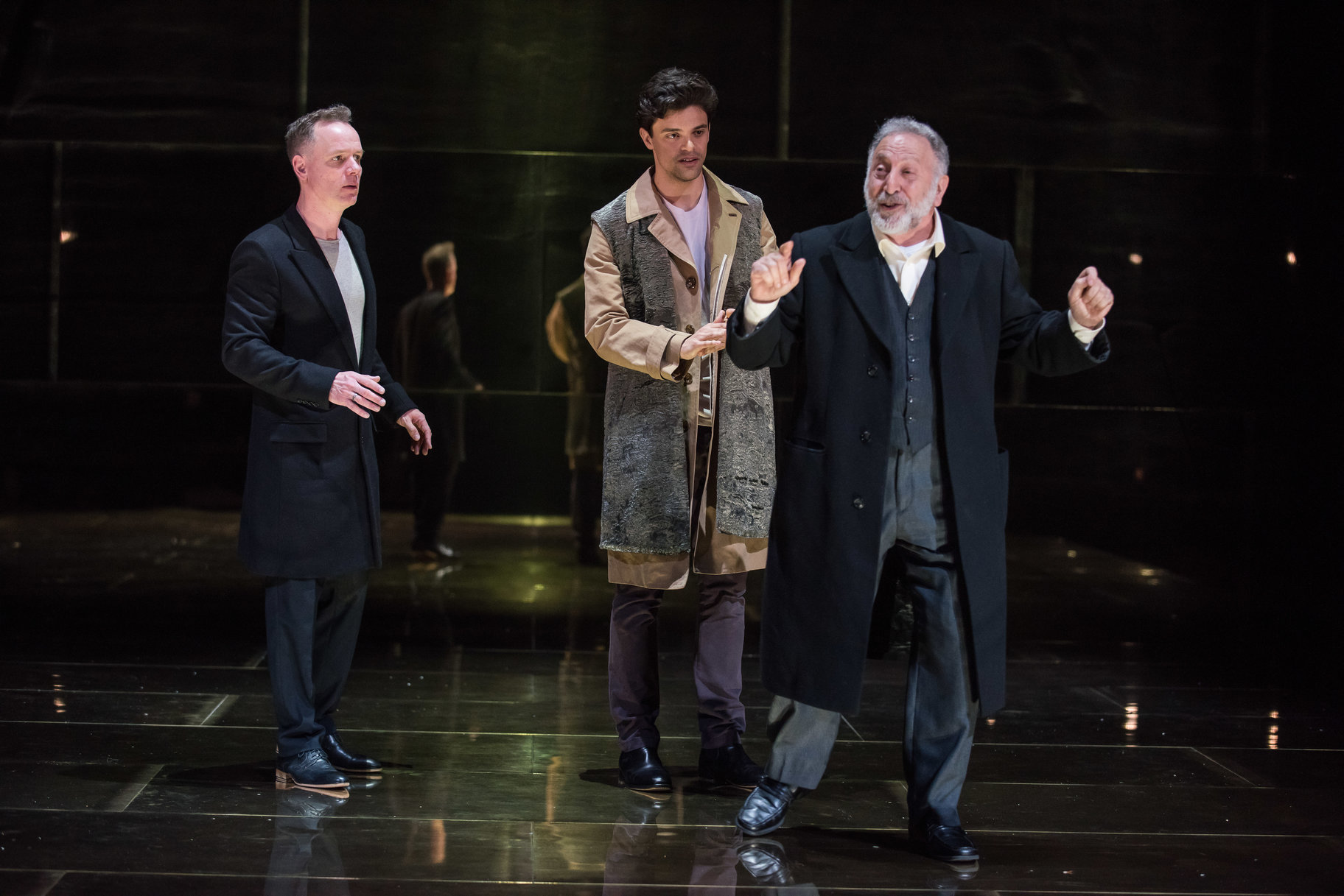 The Merchant of Venice_ 2015_ Antonio_ Bassanio and Shylock_2015_Photo by Hugo Glendinning (c) RSC _162389