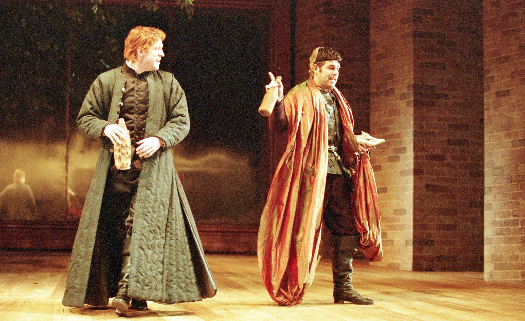 Don John (Damian Lewis) listens to Borachio's (Patrick Baladi) scheme to upset Claudio and Hero's marriage.