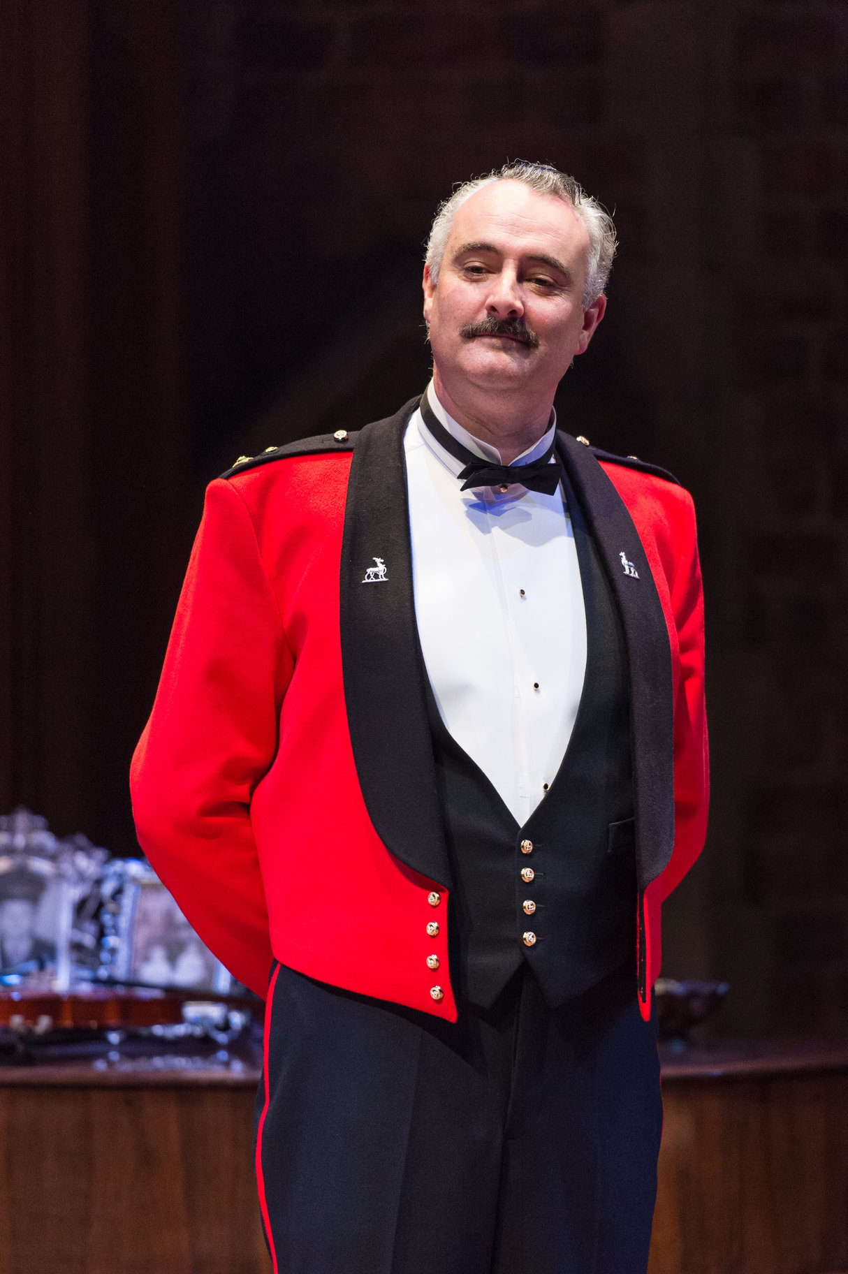 John Hodgkinson in uniform as Don Pedro.