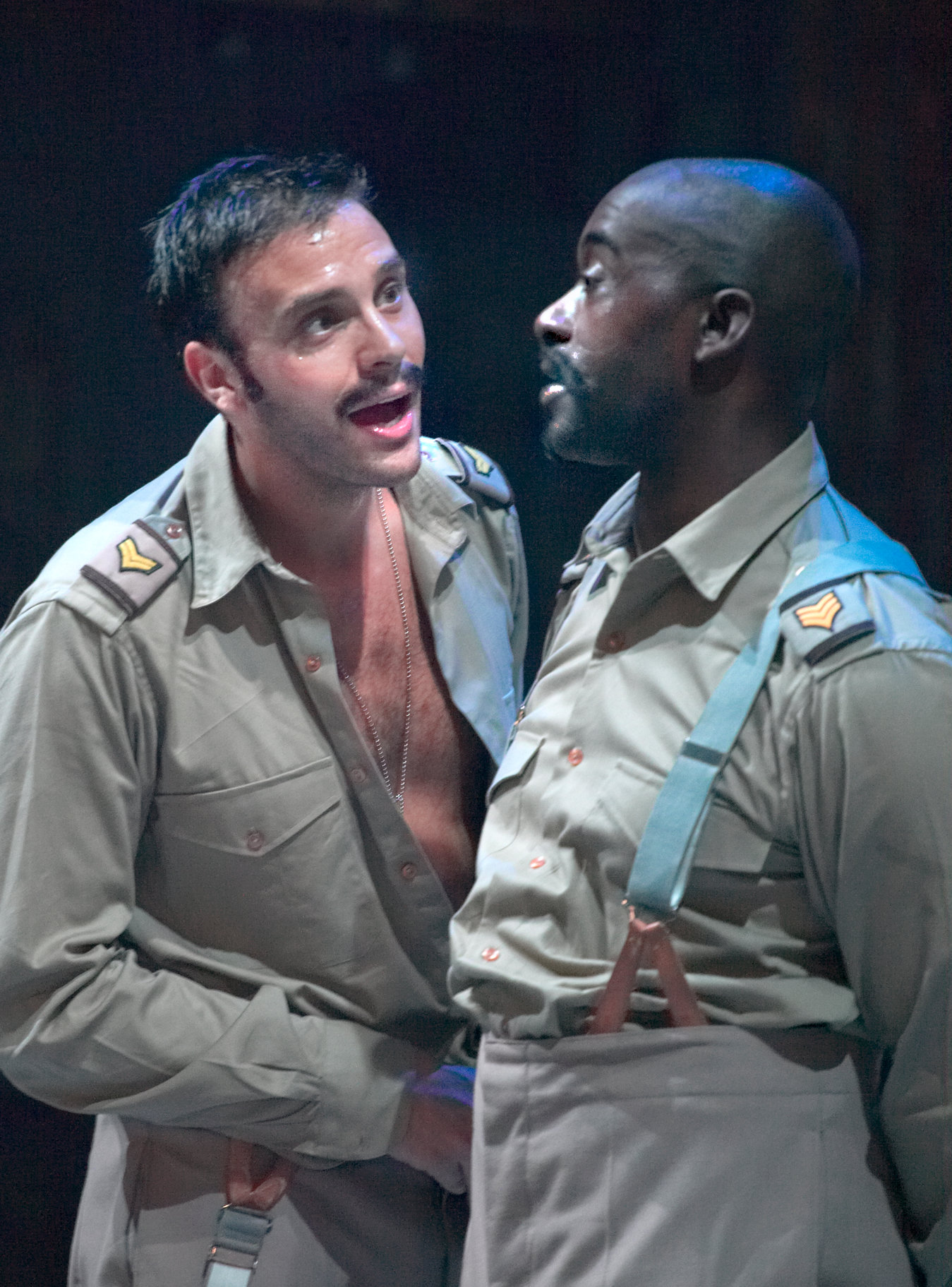 Patrick Robinson as Don Pedro, talking to Benedick.