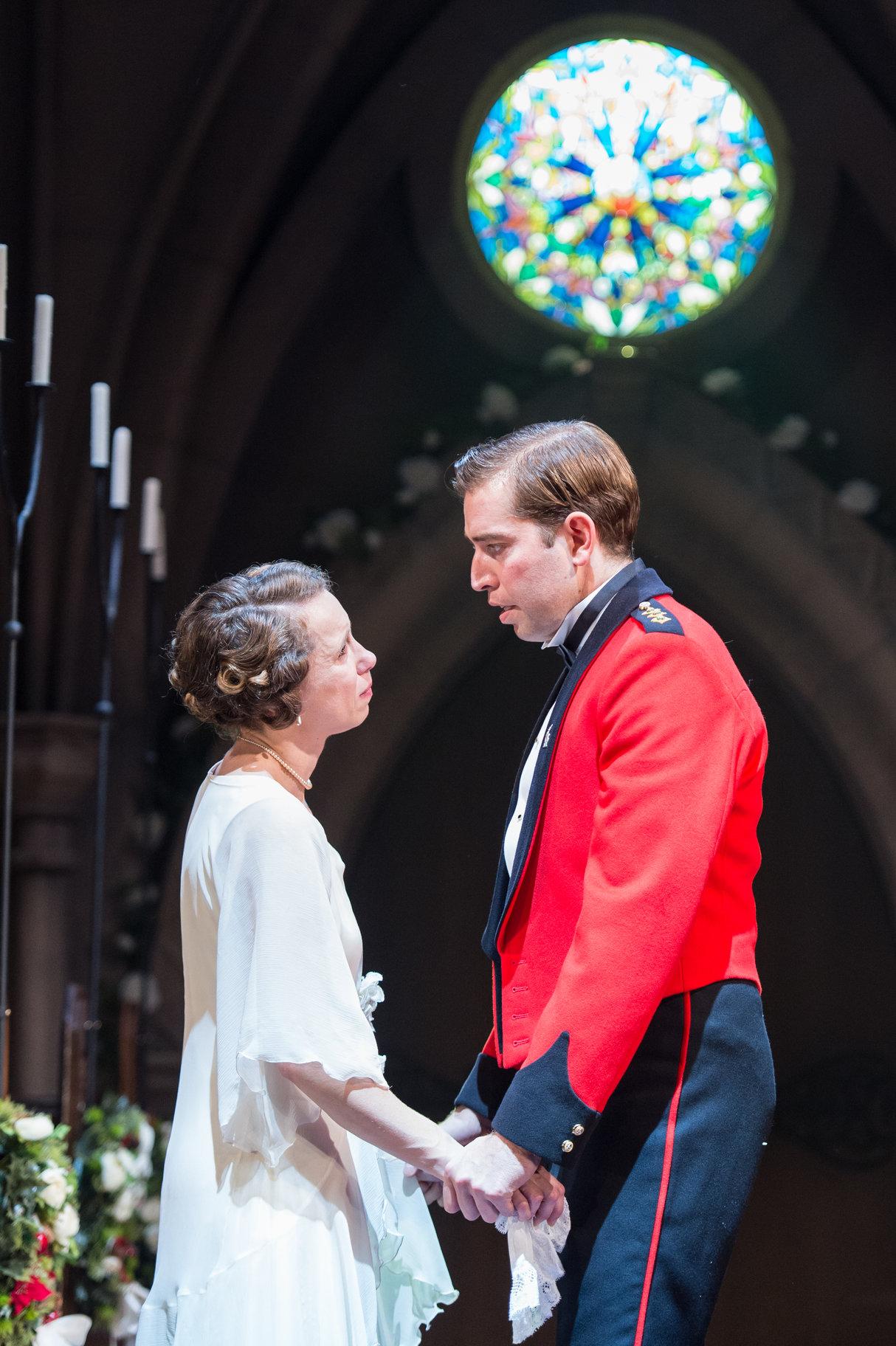 Beatrice and Benedick declare their feelings.