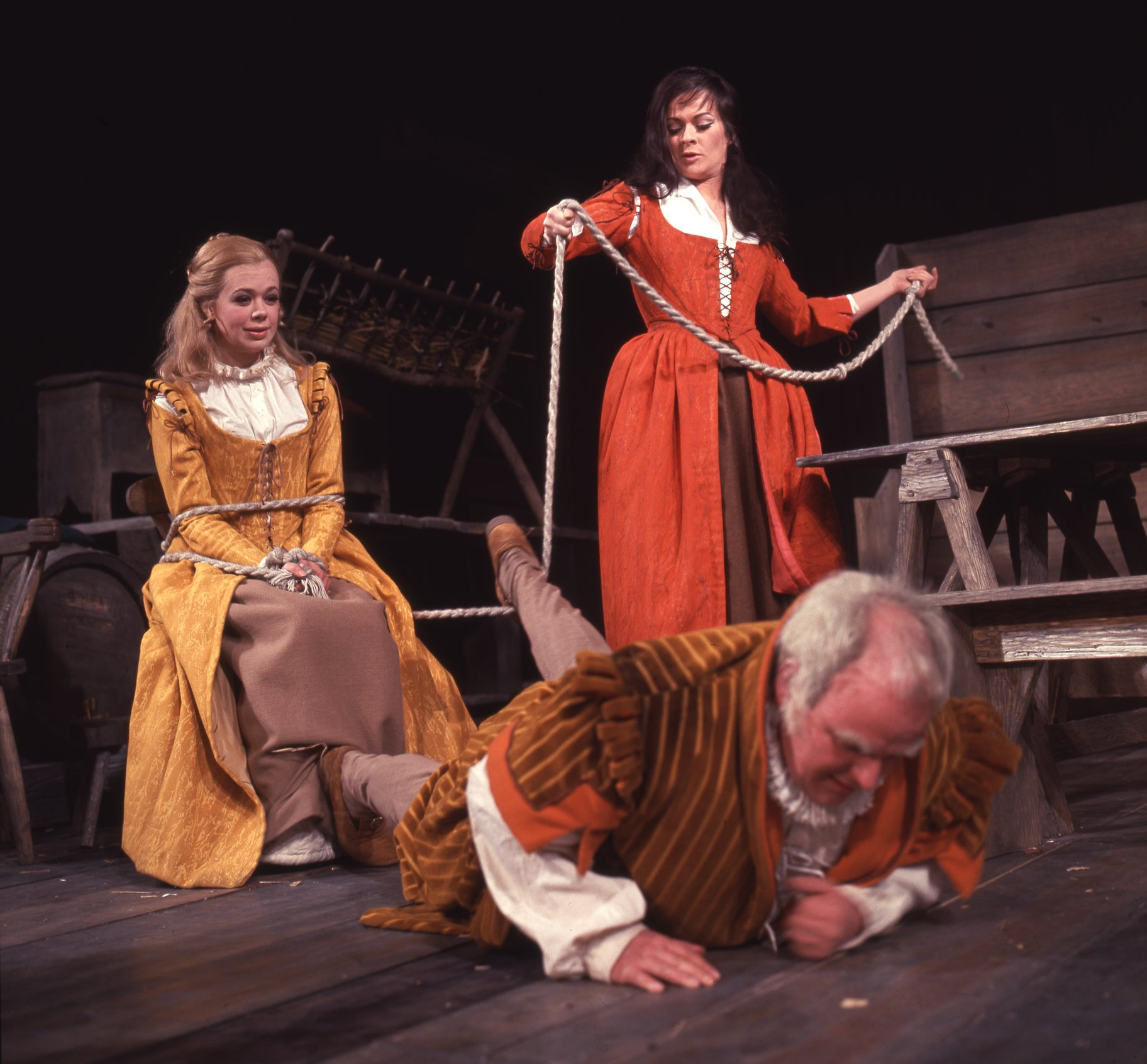 The Taming of the Shrew_ 1967_ Bianca_ Katherina and Baptista_1967_Photo by Reg Wilson _c_ RSC_263145