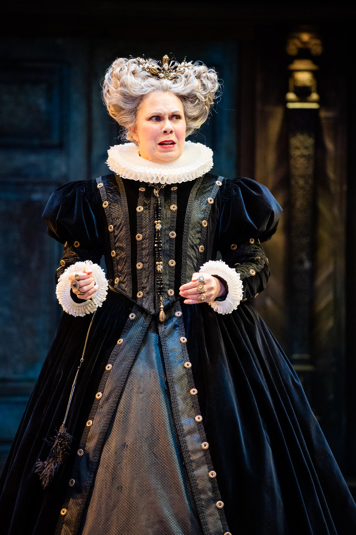 Baptista in the 2019 production of The Taming of The Shrew