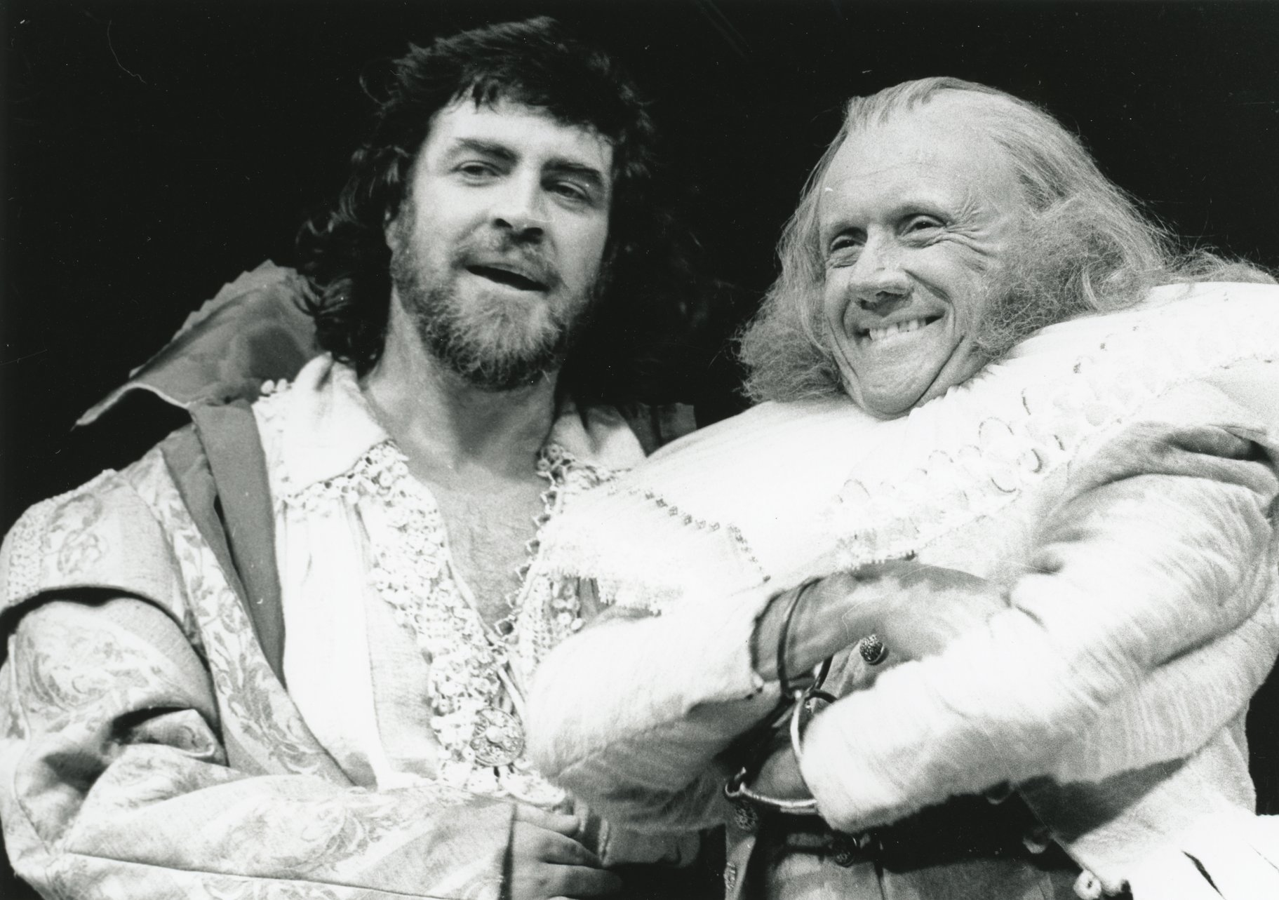 Petruchio and Baptista in the 1973 production of The Taming of The Shrew