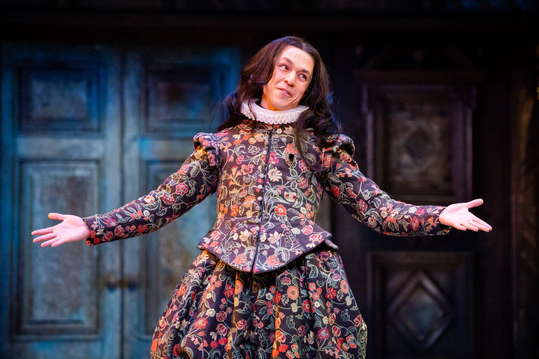 James Cooney as Bianca in the 2019 production of The Taming of The Shrew