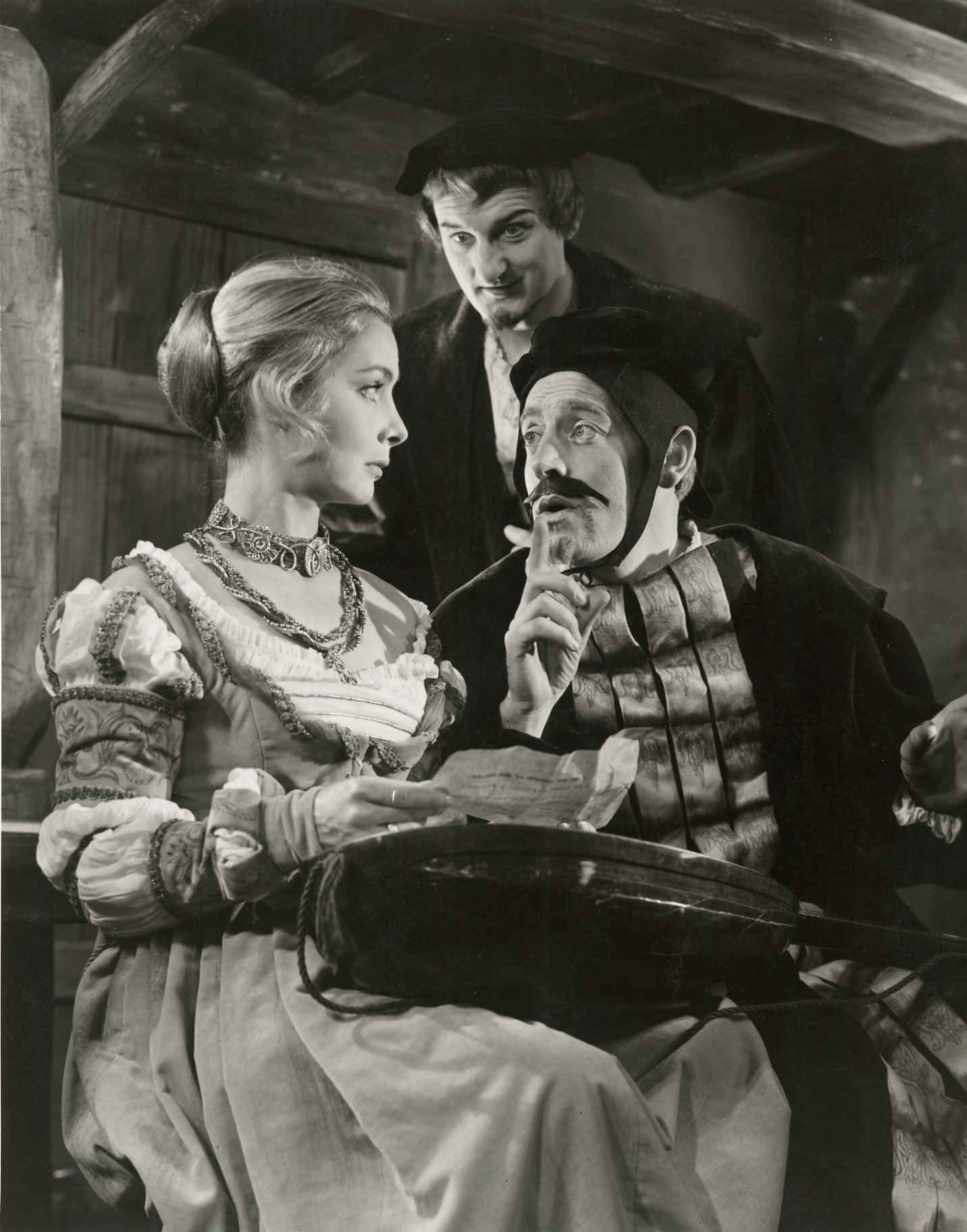 Bianca, Lucentio and Hortensio in the 1960 production of The Taming of The Shrew