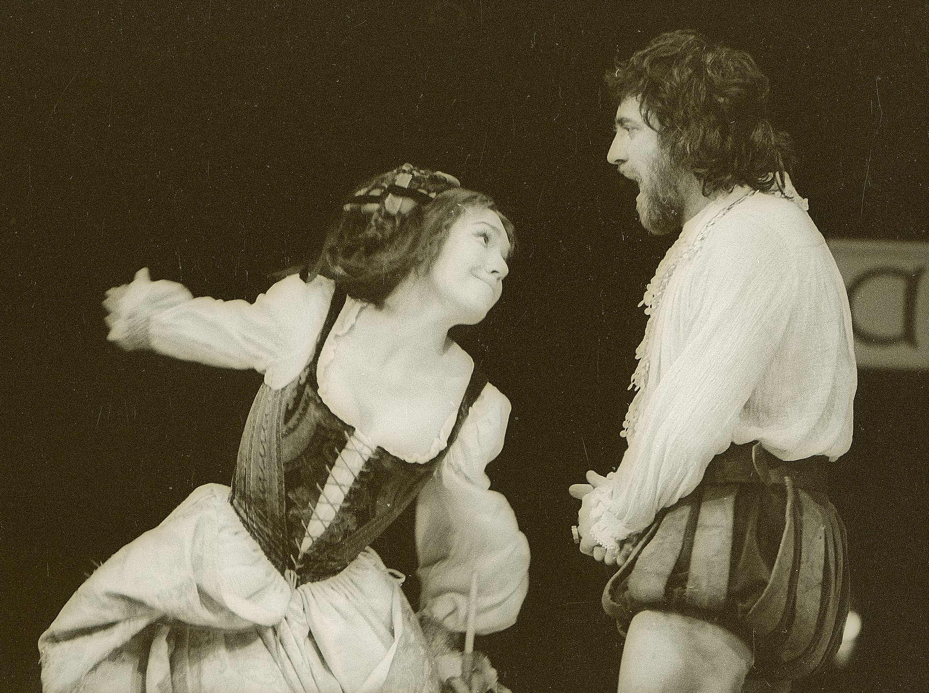 The Taming of the Shrew_ 1973_  Katherina and Petruchio_1973_Photo by Reg Wilson _c_ RSC_95094
