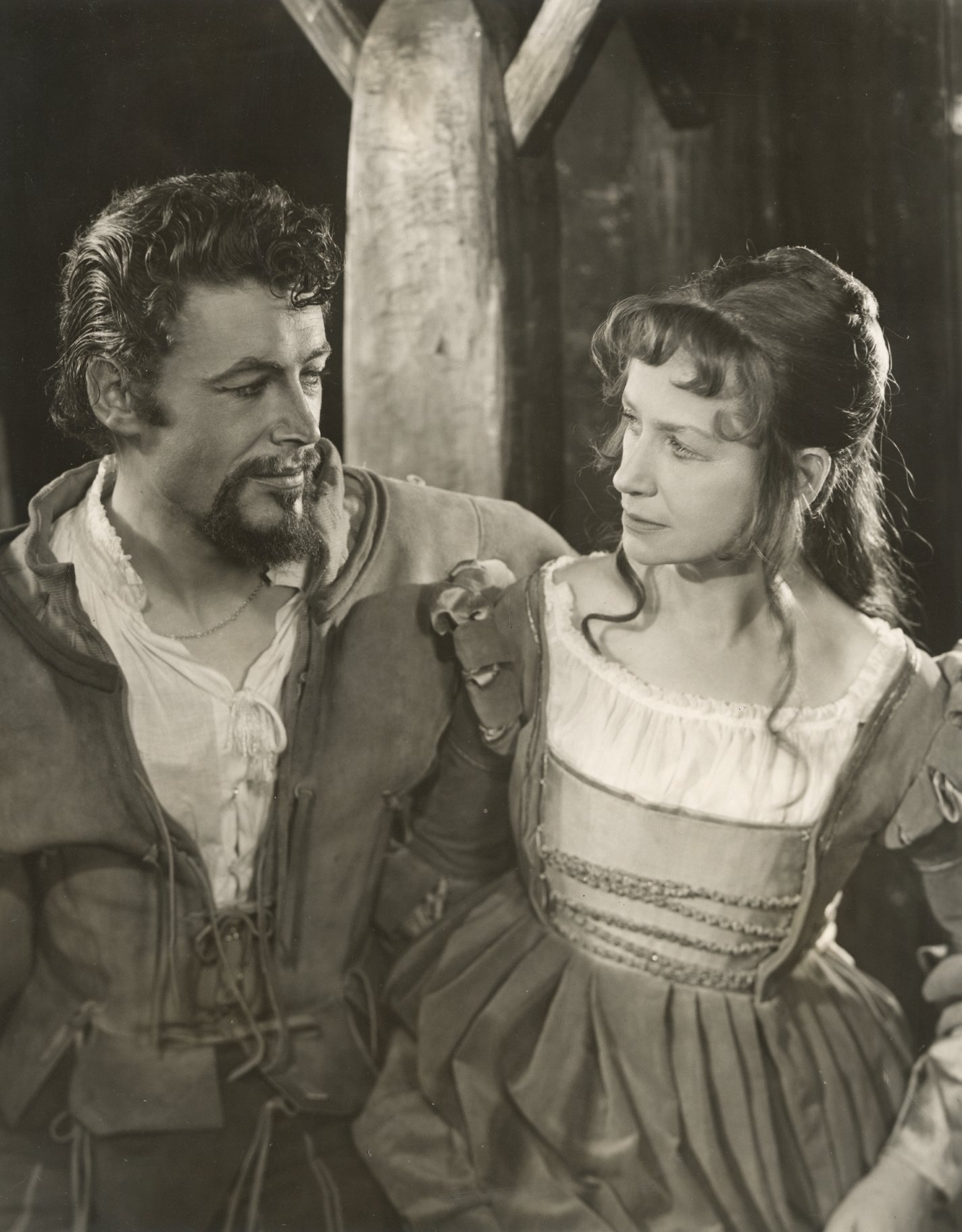 The Taming of the Shrew_ 1960_ Petruchio _Peter O_Toole_ and Katherina _Peggy Ashcroft_1960_Photo by Angus McBean _c_ RSC_43376