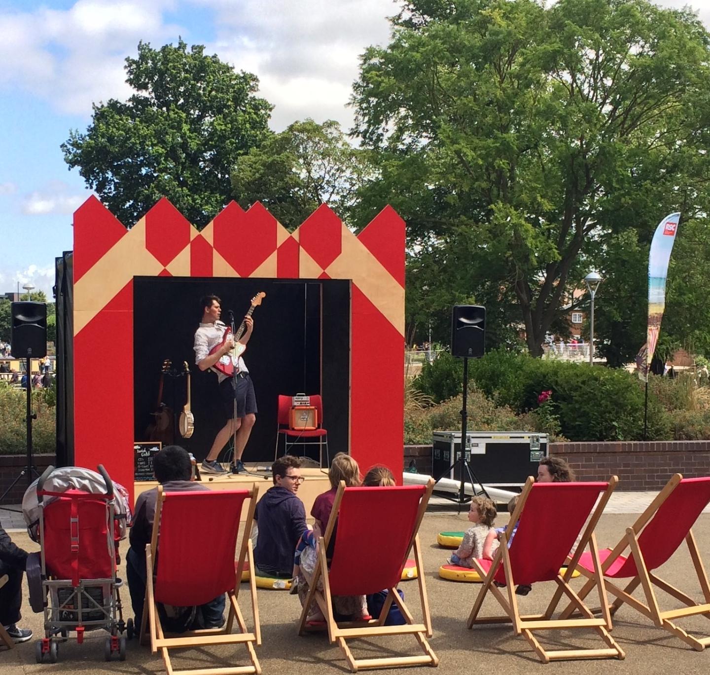 Perform at Stratford-on-Sea