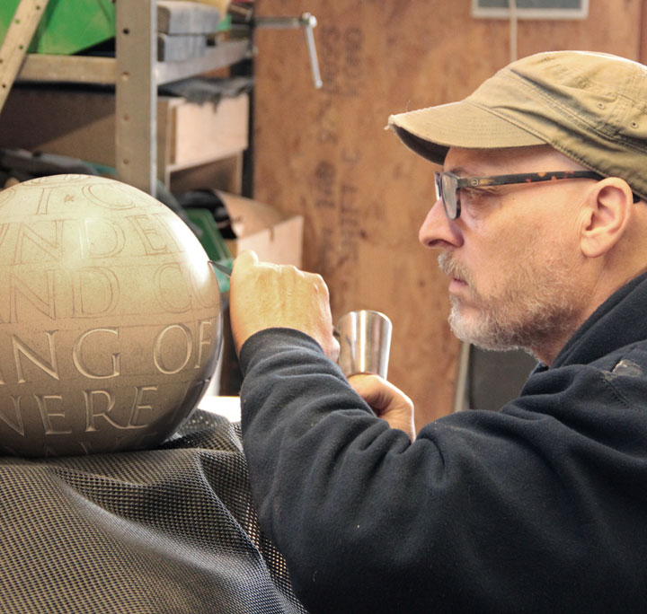 Carving Hamlet into stone