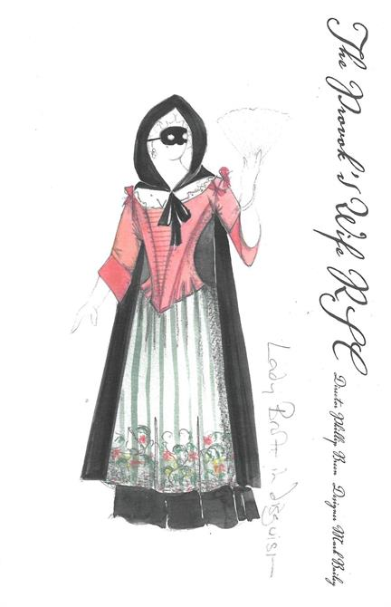 Costume design for Lady Brute in disguise.