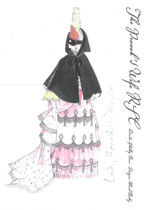 Costume design for Lady Fancyfull in Disguise.