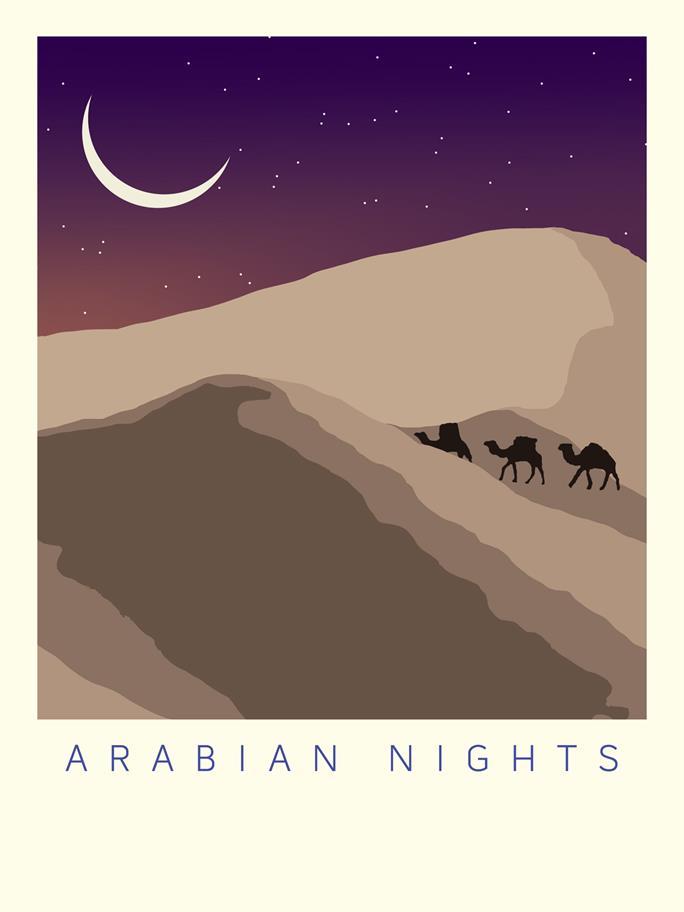 Arabian Nights landscape