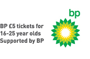 BP £5 tickets for 16-25 myear olds. Supported by BP.