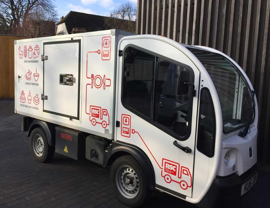 One of our fleet of electric vans.