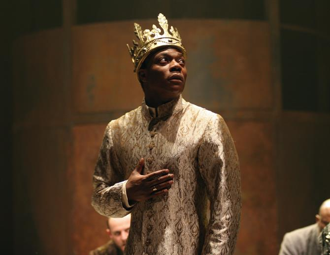 Henry VI Part 1, 2006, directed by Michael Boyd. Chuk Iwuji as Henry VI.