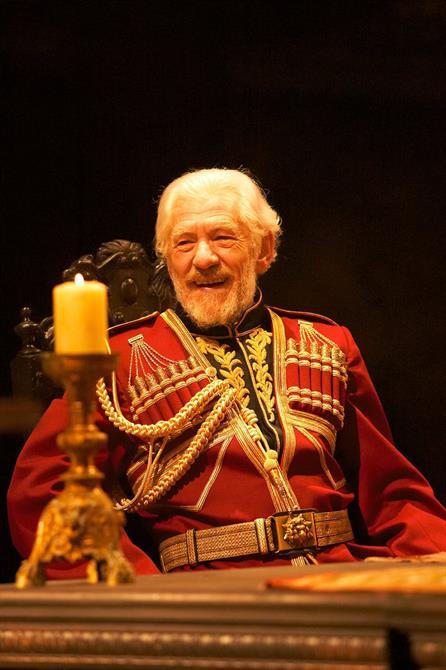 King Lear, 2007, directed by Trevor Nunn. Ian McKellen as King Lear.