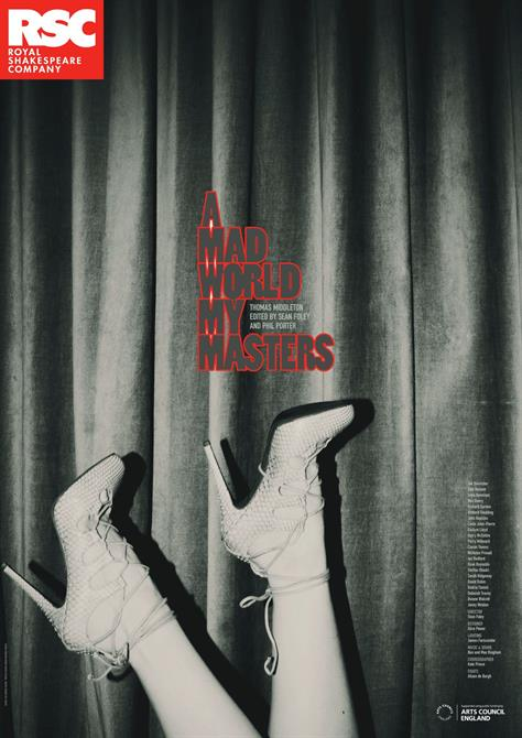 A Mad World My Masters retail poster, featuring a pair of feet wearing high heels