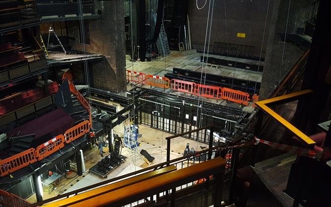 View of the RST stage from above, under construction