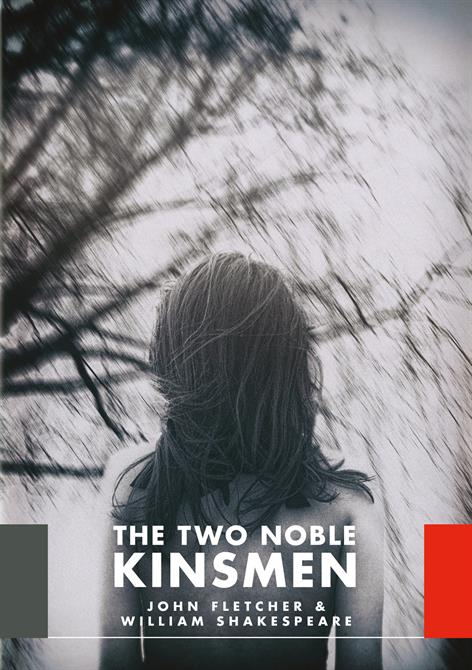 The Two Noble Kinsmen poster featuring a girl facing away and a tree in the background