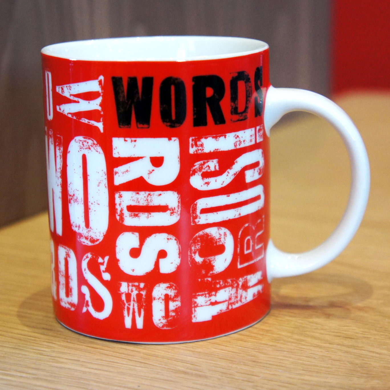 Words mug from the RSC shop