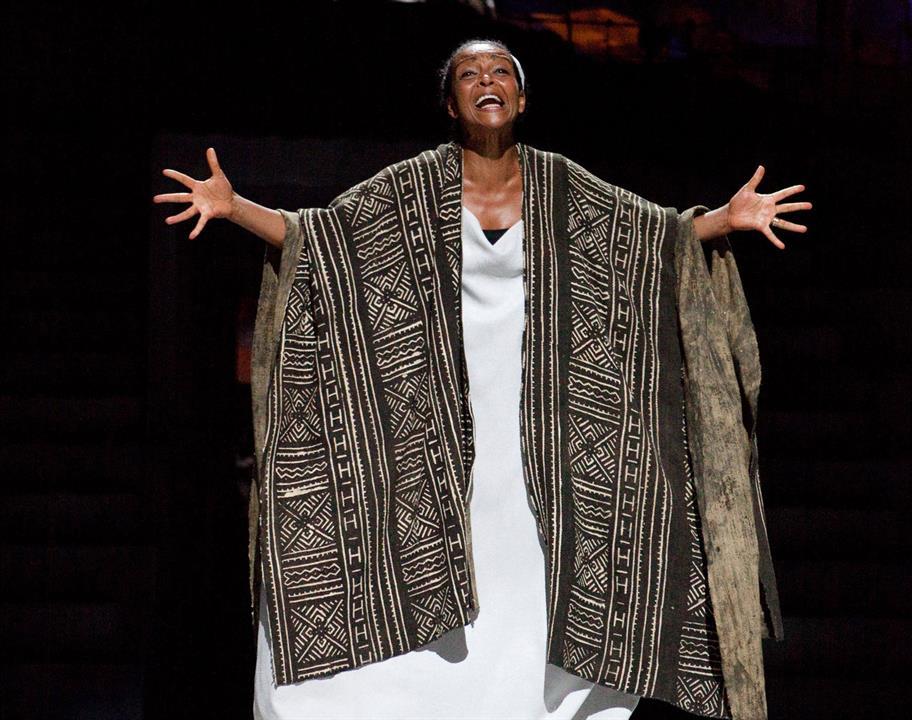 Adjoa Andoh as Portia in Julius Caesar.