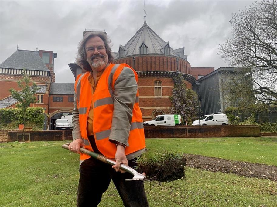 Gregory Doran breaks ground in the Swan Gardens.
