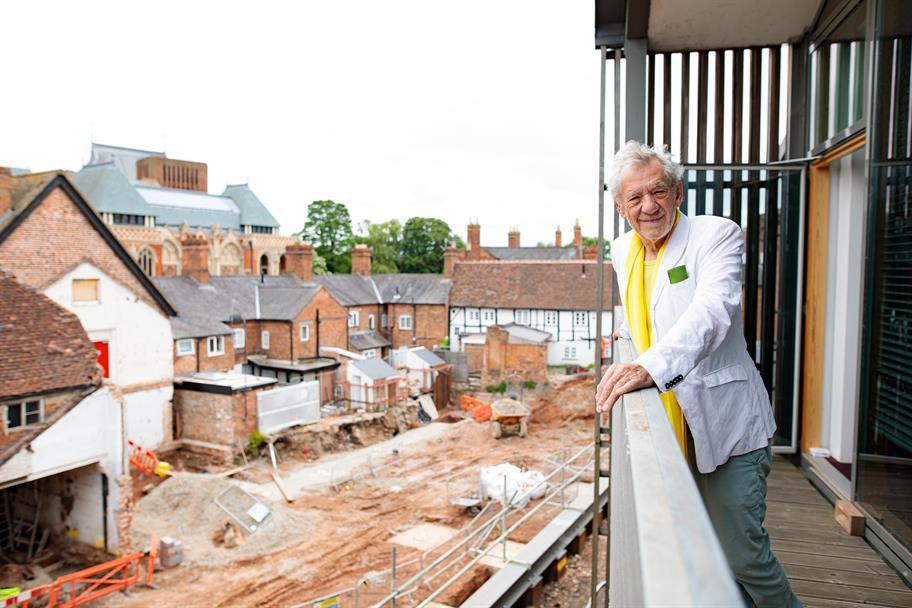 Ian McKellen views the redevelopment of the Costume Workshop