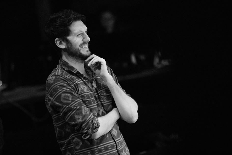 Director Owen Horsley in rehearsals.