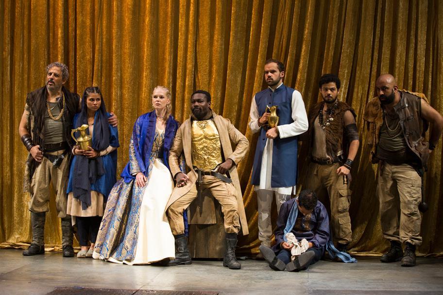 Members of the Tamburlaine cast in full costume.