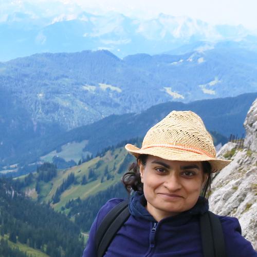 Amina Zia on top of a mountain